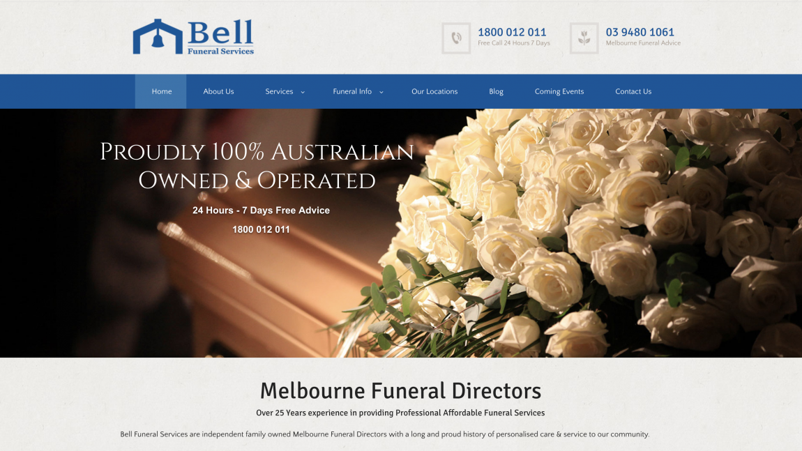 Bell Funeral Services New Website